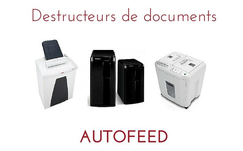 destructeur de documents autofeed. Black Bedroom Furniture Sets. Home Design Ideas
