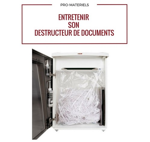 Entretenir votre destructeur de documents (1)