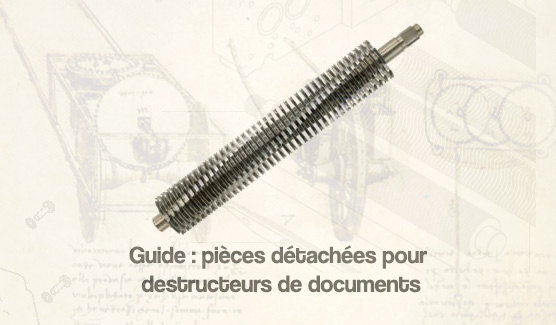 guide pièces détachées pour destructeurs de documents