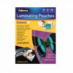 pochettes plastification fellowes brillantes a3 80 microns dos adhesif